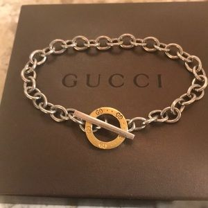 🌹🌹🌹Authentic Gucci bracelet silver/18k gold